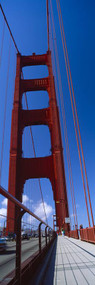 Low Angle View Golden Gate Bridge