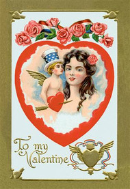 All American Patriotic Valentine