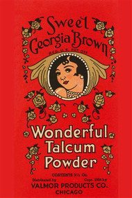 Sweet Georgia Brown Wonderful Talcum Powder