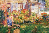 Fishing Hut in Gloucester by Hassam