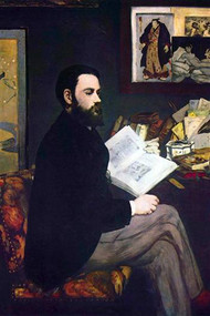 Portrait of Emile Zola by Manet