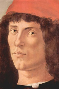 Portrait Of A Young Man With Red Cap by Botticelli