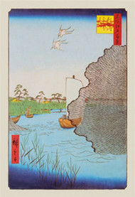 Awaiting the Ferry by Hiroshige