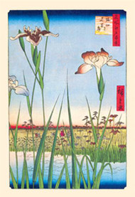 Iris Garden at Horikiri by Hiroshige