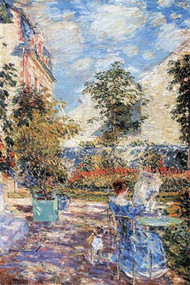 In a French Garden by Hassam