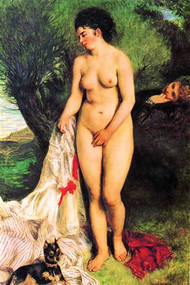 Bather With A Terrier by August Renoir