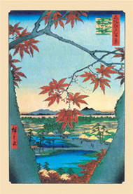 Maple Trees by Hiroshige