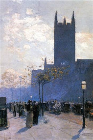 Lower Fifth Avenue by Hassam