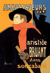 Ambassadeurs Aristide Bruant dans Son Cabaret by Toulouse Lautrec