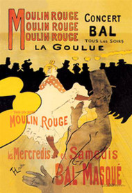 Moulin Rouge Concert Bal by Toulouse Lautrec