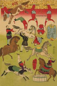 Big French Circus at Shokonsha Shrine by Hiroshige