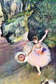 Dancer With A Bouquet Of Flowers (The Star Of The Ballet) Edgar Degas