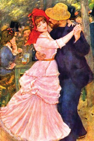 Dance in Bougival (Detail) by Renoir