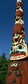 Low Angle View of a Totem Pole Ketchikan