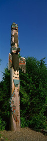 Low Angle View of a Totem Pole Alaska