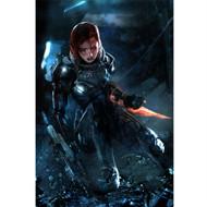Mass Effect Wall Graphics: Commander Jane Shepard Cover Art II