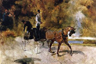 The One Horse Carriage by Toulouse-Lautrec
