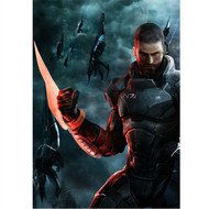 Mass Effect Wall Graphics: Commander Shepard Cover Art