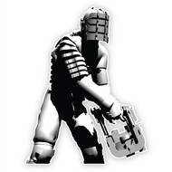 Dead Space Wall Graphics: Isaac Stylized 3/4 Cutout Wall Graphics