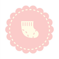 Caleb Gray Studio: Baby Sock Badge