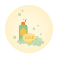 Caleb Gray Studio: Bath Time Ducky Soap Wall Badge