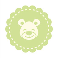 Caleb Gray Studio: Happy Bear Nursery Badge