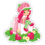 Strawberry Shortcake Sitting on Presents