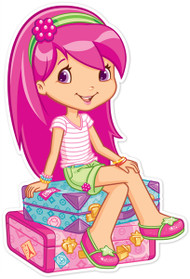 Raspberry Torte Sitting On Luggage