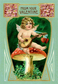 Angel With Mandolin and Mushrooms