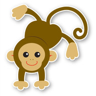 Paddleduck Wall Decals: Mia Monkey