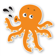 Paddleduck Wall Decals: Ollie Octopus