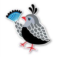 Paddleduck Wall Decals: Queenie Quail