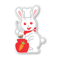 Paddleduck Wall Decals: Rene Rabbit