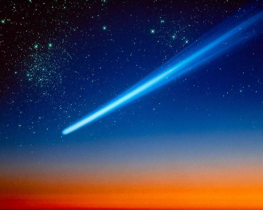 Comet Sky Comet Shooting Across Sky