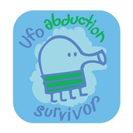 Doodle Jump Wall Badge: UFO Abduction Survivor