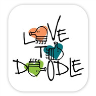 Doodle Jump Wall Badge: Love to Doodle