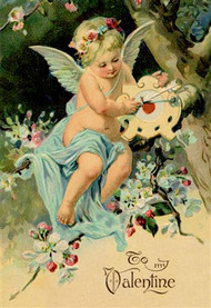 Floating Angel With Clock