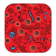 Doodle Jump Wall Badge: Red + Blue Doodles