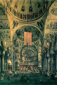 Interior of St. Marks Church, Venice by Canaletto