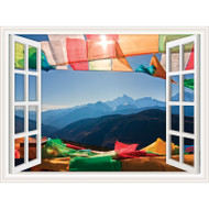 Window Views Prayer Flags
