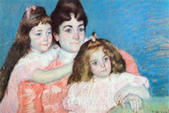Madame AF Aude with Her Two Daughters by Mary Cassatt