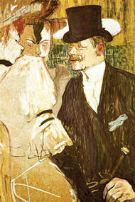 Anglais at Moulin Rouge by Toulouse Lautrec