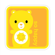Yummi Bear Funshine So Happy Badge Orange
