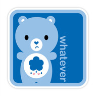 Yummi Bear Grumpy Whatever Badge Blue