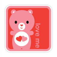 Yummi Bear Love-a-Lot Love Me Badge Red