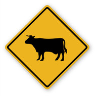 Cow Crossing Sign Wall Graphic