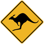 Kangaroo Crossing Wall Graphic