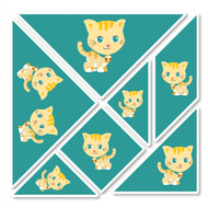 Carrie Cat Wall Tangrams from PaddleDuck Learning