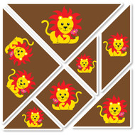 Lenny Lion Wall Tangrams from PaddleDuck Learning
