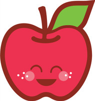Kawaii Nature Apple